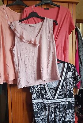 Large Bundle Of Ladies Casual Style Tops Size 20 22