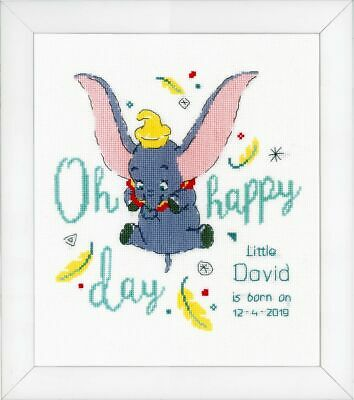 """Vervaco Zählmusterpackung Stickset  """"Disney Dumbo Oh happy day"""" PN-0176205"""