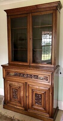 *** Beautiful Walnut Victorian Secretaire c. 1880 - Very Good Condition***