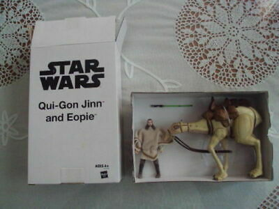 "Qui-Gon Jinn and Eopie 3.75"" figures. Star Wars:The Phantom Menace"