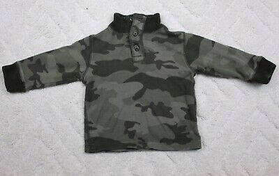 The Children's Place Baby Boys Size 24 Month green Camouflage Sweater EUC