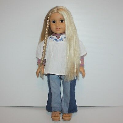 """American Girl Julie Albright 18"""" Doll in Meet Outfit"""