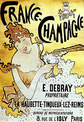 France 250gsm A3 Art Deco Poster JOSEPH PERRIER CHAMPAGNE 1920's