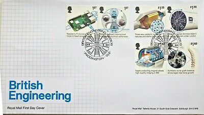 2019 GB BRITISH ENGINEERING First Day Cover Stamps + Mini Sheet FDC 02/05/2019