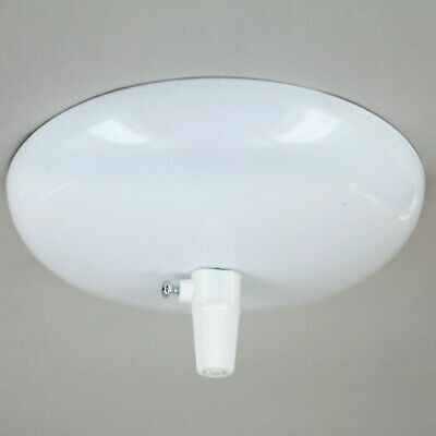 "Modern Dome Ceiling Canopy Kit ~ 5"" Dia. { ROUND Wire Pendant Light } ~ WHITE"