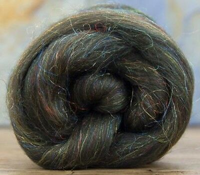 Ruby Sparkle ** FREE SHIPPING ** 4 Ounces Merino Wool//Nylon Combed Top//Roving