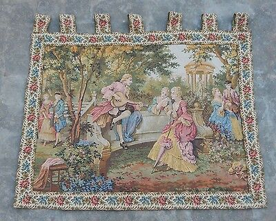 Vintage French Beautiful Party Scene Tapestry 92x71cm (A1038)