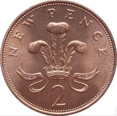 1971-2019 Two Pence Coins GB UK Circulated  select date from list