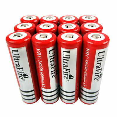 1/2/4/6/8/10X UltraFire Battery 18650 6800mAh 3.7V Li-ion Rechargeable Low Drain