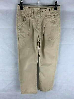 Next Girls Age 7 Years Tan colour Cotton Trousers