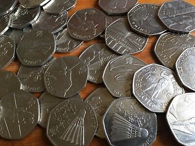 50P Coins Circulated Fifty Pence Royal Mint British Coin Hunt - Various Designs