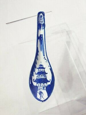 Lovely Blue & White 19thC Chinese Antique Kangxi Style Spoon