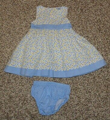 554f956bfa6e Carters Baby Girls Floral Polka Dot Dress Diaper Cover Size 3 Months EUC