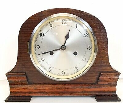 Art Deco Smiths Oak Striking Clock