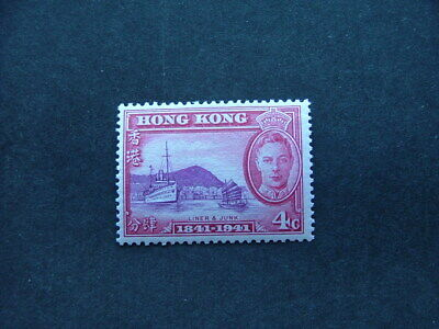 Hong Kong KGVI 1941 Centenary 4c bright purple & carmine SG164 LMM