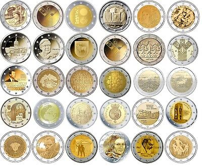 2 Euro commemorative coins 2018 - UNC or BU or PROOF Quality