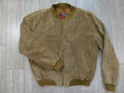 vintage UNITED COLORS OF BENETTON suede leather jacket LARGE 44 bomber baracuta