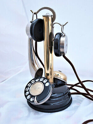 FRENCH HANGMAN 1920s PHONE  WITH  external BELL  VERY RARE by Grammont of Paris