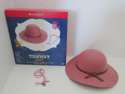 American Girl Doll Tenney Grant Hat and Necklace New In Box Free shipping!