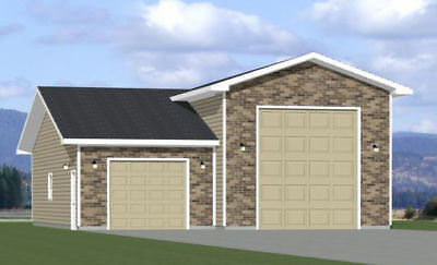 Model 1C 36x48 1 RV Garage PDF Floor Plan 1,600 sq ft