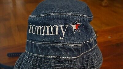 8ed0a4da Vintage Tommy Hilfiger Childs Denim Beach Sun Bucket Hat Toddler Size