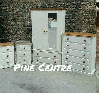 Handmade Aylesbury Next (Ivory+Dark Oak) 4 Piece Bedroom Set Not Flat-Pack!!!