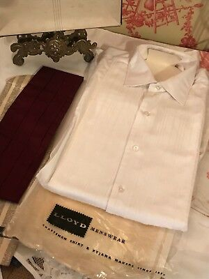 Vintage Gents Dress Shirt 15 Collar Has Stained Over Time - Dye / Re-purpose
