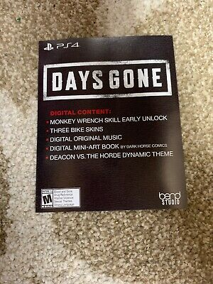 Days Gone Collectors Edition DLC No Game Instant message