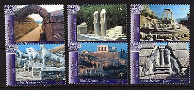 UN - NY . 2004 Greece World Heritage . BOOKLET Singles (6) .  Mint Never Hinged