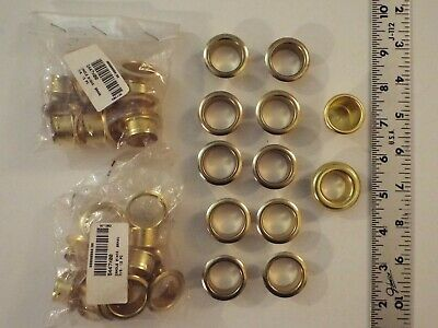 """New Mixed Lot Of 36 Brass Candle Holder Inserts-7/8"""" Hole-Rare"""