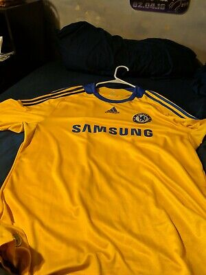 42ce7b603d3 ADIDAS CHELSEA FC Soccer Jersey Men s XL Yellow EPL Lampard -  3.25 ...