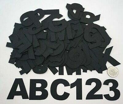 NO 593 Scrapbooking - 78 Black Large Alphabet & 30 Numbers - 40mm Not Stickers