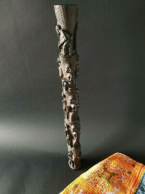 Old African Ebony Totem Carving  …beautiful collection piece