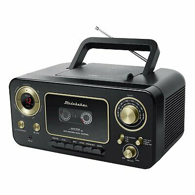 Studebaker SB2135BG Portable CD Player with AM/FM Radio and Cassette...