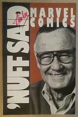 **Marvel Comics 'Nuff Said #1** RARE, PROMO KEY!! AVENGERS! SIGNED By STAN LEE!!