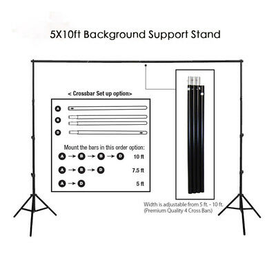 New Kshioe 2x3m Photography Background Backdrop Light Stand Support Studio Kit