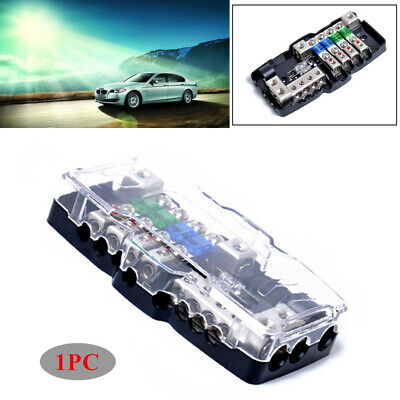 car auto modified audio line box multi-function fuse box fuses with led  lights