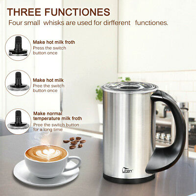 Automatic Stainless Steel Electric Milk Frother Warmer Coffee Foamer Cappuccino