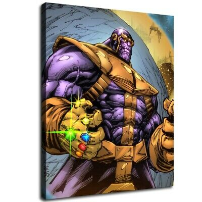 """12""""x14""""Avengers Thanos Poster HD Canvas Print Painting Home decor Room Wall art"""