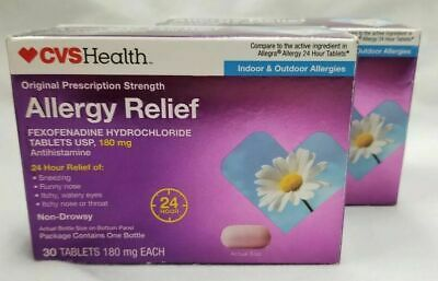 CVS ALLERGY RELIEF 180MG (120 tablets) EXPIRES 06/20