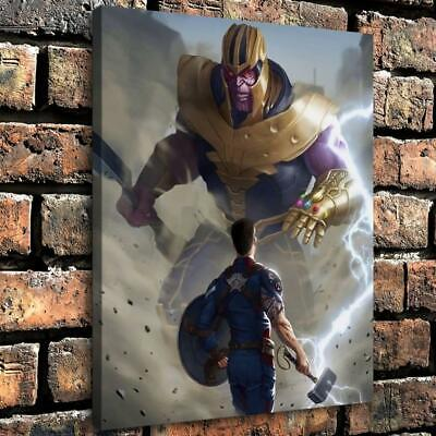 Captain America Thanos HD Canvas Print Painting Home decor Room Wall art Picture