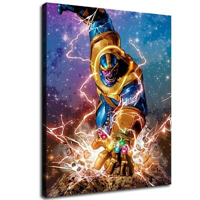 """12""""x16""""Avengers Poster Thanos HD Canvas Print Painting Home decor Room Wall art"""