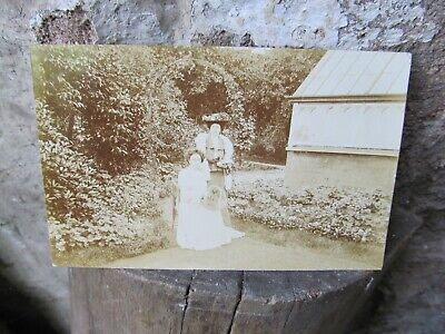dated 1903 postcard large greenhouse / garden setting