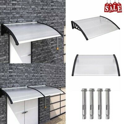 Door Canopy Outdoor Porch Window Rain Awning Shelter Shade Front/Back Garden