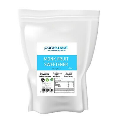 Puresweet Premium Natural Monk Fruit Sweetener 470g, Zero Calories