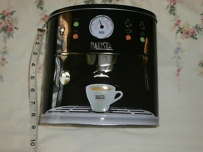 Novelty Empty Barista Coffee Maker Biscuit Tin Debenhams