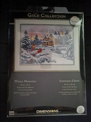 Dimensions Counted Cross Stich Gold Collection Winter Memories 35155