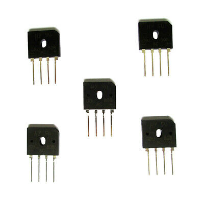 5 pieces Silicon Copper Bridge Rectifier Full Wave Single Phase 8 Amps 800V