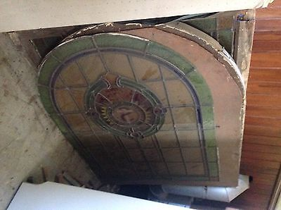 Victorian gothic chapel / church arched windows + other stained glass