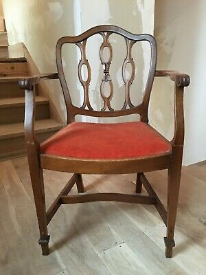 Sheraton Carver Dining Chair Georgian Revival Carved Hepplewhite 18th Century
